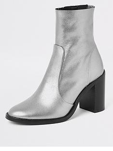 river-island-leather-ankle-boot-silver