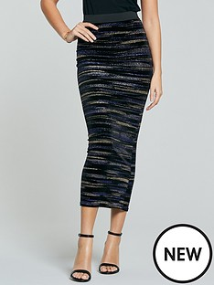 michelle-keegan-lurex-velvet-pencil-skirt-multi