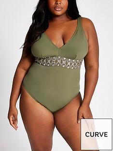 ri-plus-ri-plus-embellished-waist-swimsuit-khaki