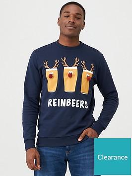 v-by-very-reinbeer-christmas-mens-sweatshirt-navy