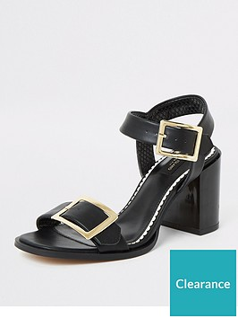 river-island-river-island-wide-fit-buckle-block-heel-sandal-black