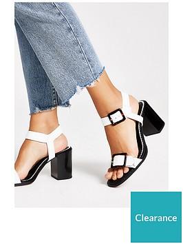 river-island-river-island-wide-fit-buckle-block-heel-sandal-white
