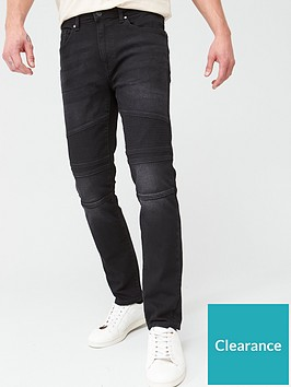 very-man-slim-black-biker-jeans-black