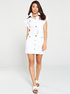 river-island-denim-belted-dress-white