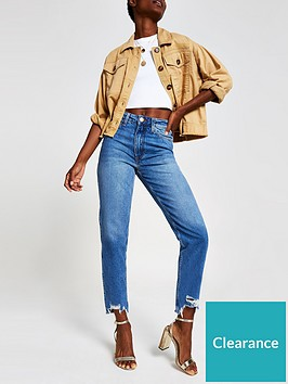 river-island-mom-high-rise-jean-mid-blue