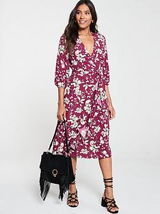 v-by-very-ruffled-wrap-midi-dress--nbspfloral