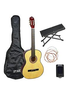 3rd-avenue-3rd-avenue-34-size-classical-guitar-premium-pack-natural-with-6-months-free-online-lessons