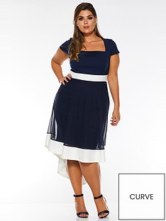 quiz-curve-curve-squarenbspneck-dip-hem-sheer-dress-navycream
