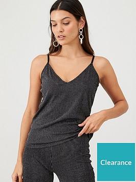 v-by-very-metallic-stripe-cami-co-ord-black-stripe