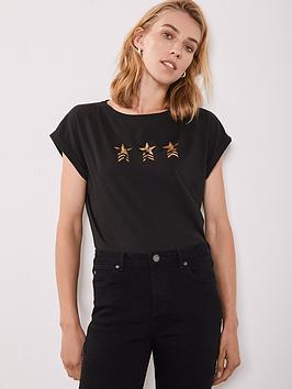 mint-velvet-military-star-tee-black