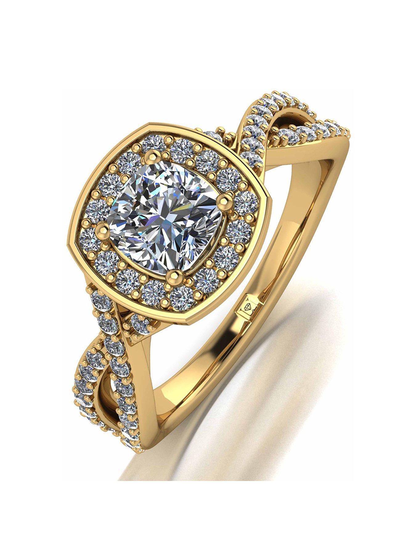 9ct Gold Court Shape Medium Weight Plain Wedding Band Ring Gift H-Z