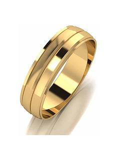1600392268: Love GOLD 9ct Gold 5mm D Shaped Wedding Band