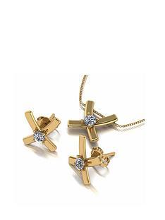 moissanite-moissanite-9ct-white-gold-lady-lynsey-50pt-eq-cross-stud-earrings-and-pendant-set