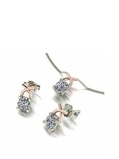 moissanite-moissanite-9ct-two-tone-rose-and-white-gold-1ct-eq-solitaire-kiss-stud-earrings-and-pendant-set