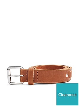 topman-topman-woven-leather-belt-tan