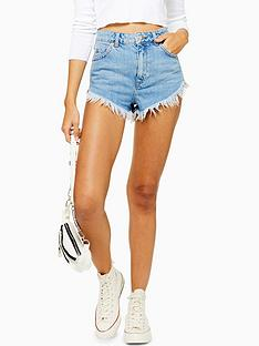 topshop-raw-edge-denim-shorts-blue
