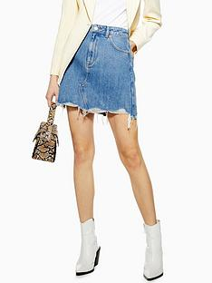 topshop-topshop-raw-edge-denim-skirt-blue