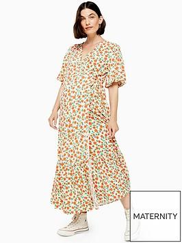 topshop-maternity-peplum-wrap-dress-multi