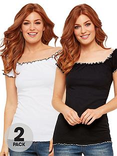 joe-browns-all-new-2-pack-gypsy-top-white-black