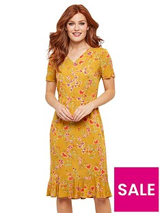 joe-browns-vintage-florals-dress-mustard