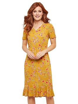 joe-browns-vintage-florals-dress-mustard