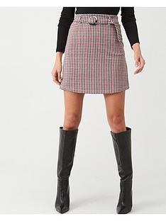 v-by-very-check-print-mini-skirt-multi