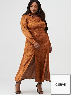 ax-paris-curve-satin-printed-maxi-shirt-dress-rust