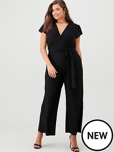 ax-paris-curve-cap-sleeved-glitter-jumpsuit-black