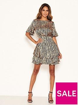 ax-paris-zebra-print-frill-dress-stonenbsp