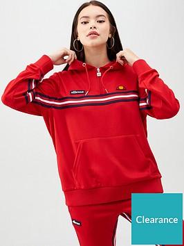 ellesse-heritage-rigourda-14-zip-hoodie-rednbsp