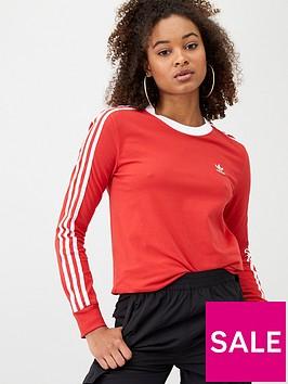 adidas-originals-3s-long-sleeve-top-rednbsp