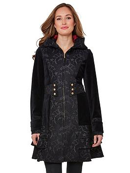 joe-browns-elegant-jacquard-coat-black