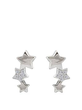 the-love-silver-collection-sterling-silver-cubic-zirconia-triple-star-stud-earrings