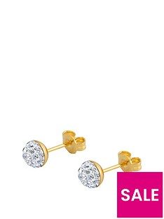 the-love-silver-collection-18ct-gold-plated-sterling-silver-crystal-glitter-stud-earrings