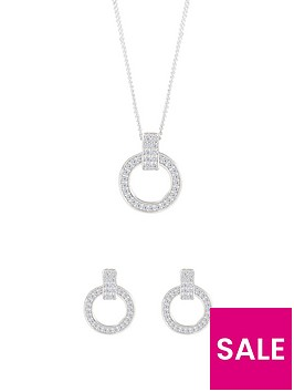 the-love-silver-collection-sterling-silver-cubic-zirconia-round-earrings-and-pendant-set