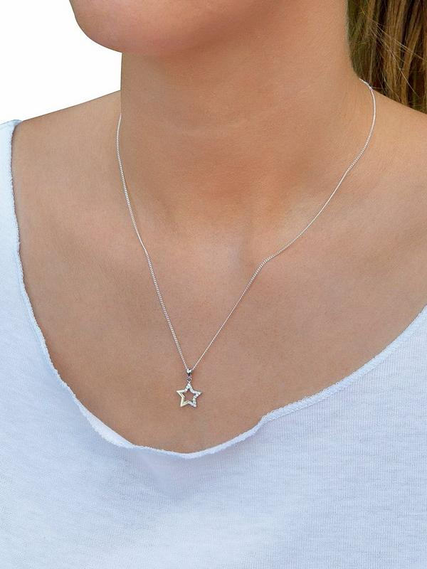 Rhodium-plated 925 Silver Christmas Tree Pendant with 18 Necklace Jewels Obsession Silver Christmas Tree Necklace