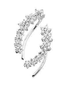 the-love-silver-collection-sterling-silver-cubic-zirconia-graduated-flower-climber-earrings