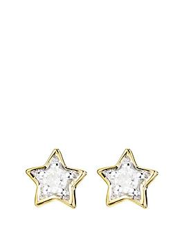 love-diamond-9ct-gold-diamond-set-star-stud-earrings