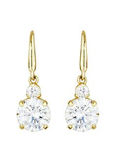 love-gold-9ct-gold-cubic-zirconia-hook-drop-earrings