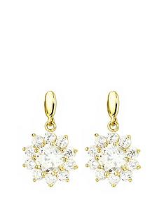 love-gold-9ct-gold-cubic-zirconia-flower-cluster-drop-stud-earrings