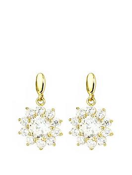 love-gold-9ct-gold-cubic-zirconia-flower-cluster-drop-stud-earrings