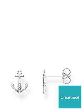 thomas-sabo-silver-zirconia-anchor-ear-studs