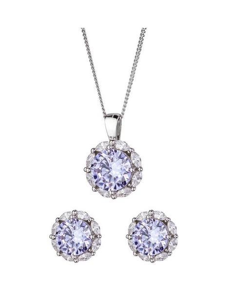 the-love-silver-collection-sterling-silver-lavender-cubic-zirconia-halo-stud-earrings-and-pendant-set