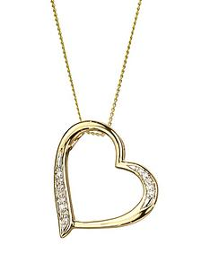 love-diamond-9ct-gold-diamond-set-heart-pendant-necklace