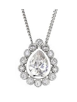 the-love-silver-collection-sterling-silver-cubic-zirconia-pear-cluster-pendant-necklace