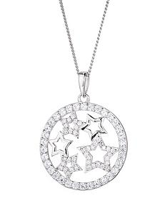 the-love-silver-collection-sterling-silver-cubic-zirconia-star-round-pendant-necklace