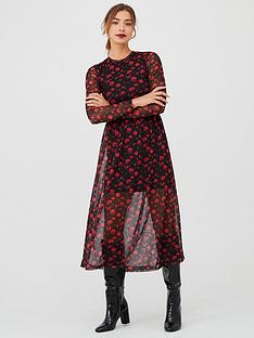 v-by-very-floral-mesh-midaxi-dress-black