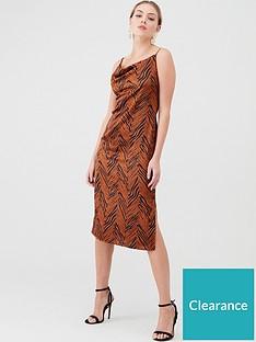 v-by-very-tiger-slip-dress-bronze