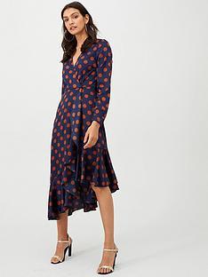 v-by-very-asymmetric-hem-ruffle-wrap-dress-spot