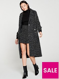 mango-mono-check-long-coat-black